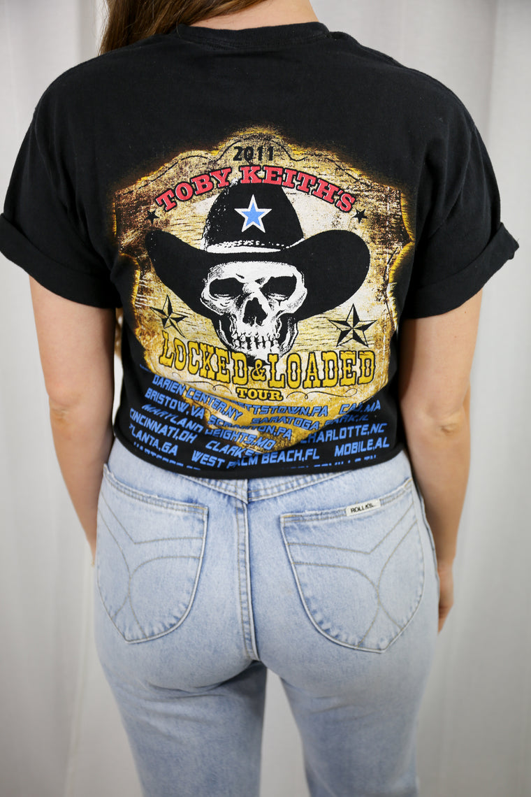 BOBBIROX - VINTAGE TOBY KEITH LOCKED & LOADED TOUR TEE