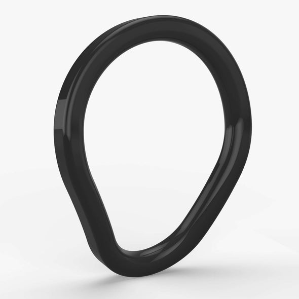 NEW! Primal:Spark Cock Ring in Glossy Black Stainless Steel