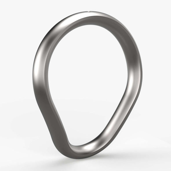 Primal:Fusion Cock Ring in Matte Stainless Steel