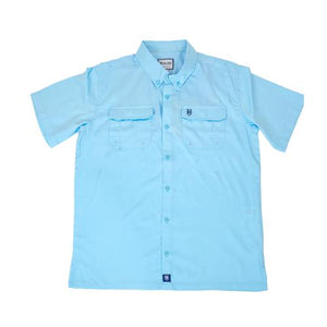 Heybo YOUTH Boca Grande Fishing Shirt - Sky Blue