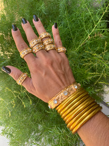 BuDhaGirl Gold All Weather Bangles(AWB)