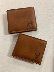 Zep-Pro Men's Leather Embossed Wallet-Bi Fold