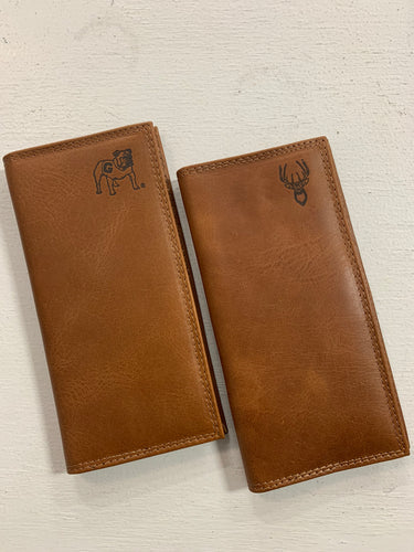 Zep-Pro Men's Embossed Leather Wallet-Checkbook