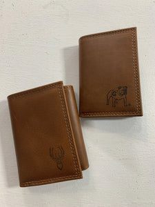 Zep-Pro Men's Leather Embossed Wallet-Tri Fold