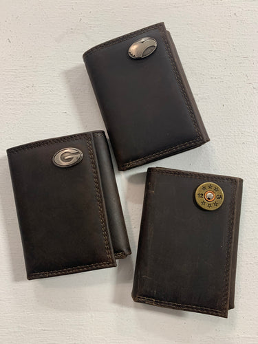 Zep-Pro Men's Leather Tri-fold Wallet