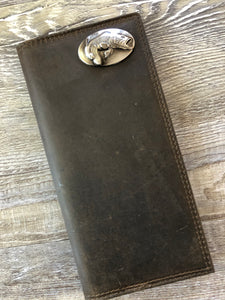 Zep-Pro Men's Leather Checkbook Wallet