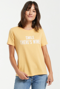 Z Supply Smile There's Wine Tee