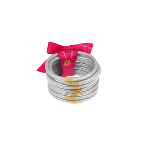 BuDhaGirl Silver All Weather Bangles(AWB)