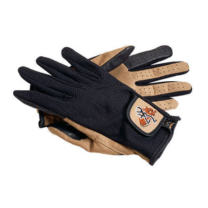 Mesh Back Shooting Gloves Tan/Black, Small