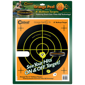 "Orange Peel 8"" Bulls-Eye 5 Sheets"