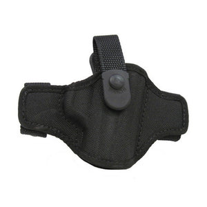 7506 AccuMold Belt Slide Holster, Thumbsnap Plain Black, Size 14A, Right Hand