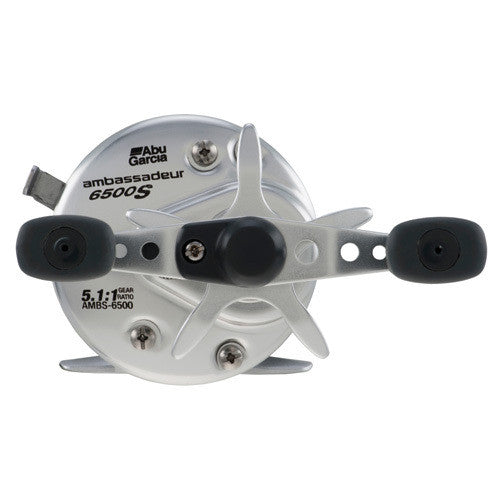 Ambassadeur S Round Baitcast Reel 6500, 5.1:1 Gear Ratio, 2 Bearings, 11 lb Max Drag, Right Hand