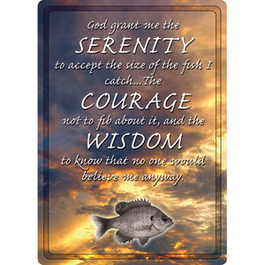 "12"" x 17"" Tin Sign Serenity, Courage, Wisdom"
