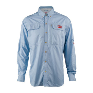 Penn Vented Performance Long Sleeve Shirts, Blue XX-Large