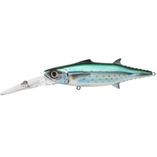 "Spanish Mackerel Trolling Bait 4 3/4"", Number 1/0 Hook Size, 0'-15+' Depth, Silver/Blue/Green"