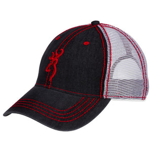 Denim Cap Red