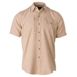 Phenix Shooting Shirt Short Sleeve, Khaki, Large
