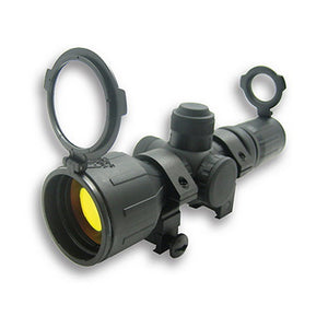 Rubber Tactical-Double Illumination Series Scope 3-9x42 Red/Green Illuminated Reticle,  Ruby Lens
