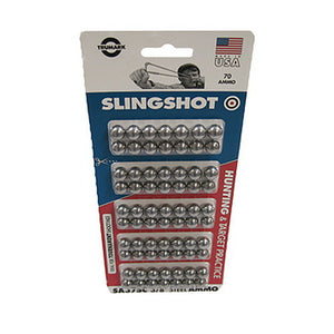 "Steel Ball Slingshot Ammo 3/8"", 70 Count, Clam Pack"