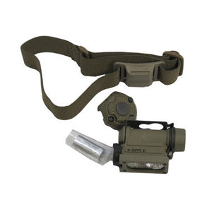 Sidewinder Compact II w/CR123A Battery Light and Head Strap, Clam Pack