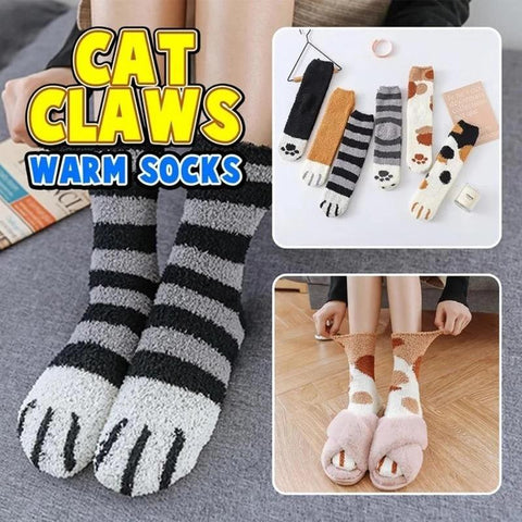 THICK WARM SLEEP SOCKS CAT CLAWS