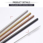 4PC REUSABLE DRINKING STRAWS