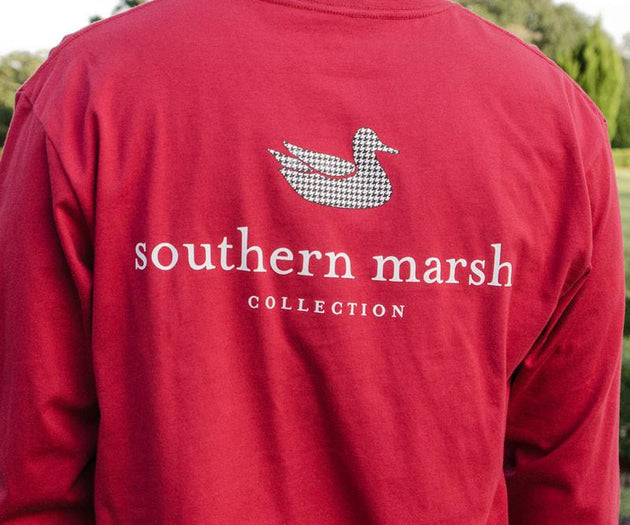 Southern Marsh Houndstooth Authentic Collegiate Tee Shirt