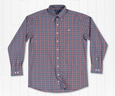 Southern Marsh Bristol Performance Plaid Dress Shirt Slate