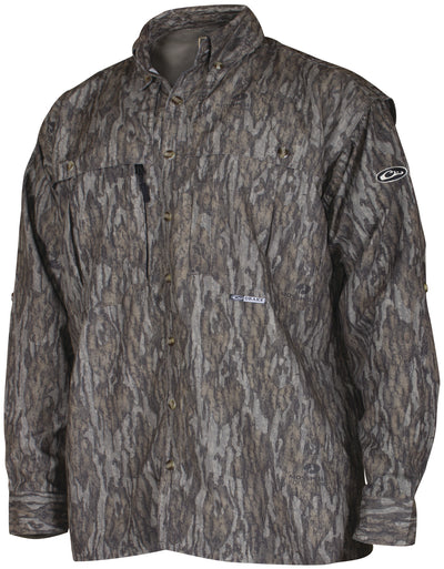 Drake EST L/S Camo Vented Wingshooter's Shirt