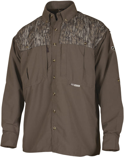 Drake Two-Tone L/S Vented Wingshooter's Shirt