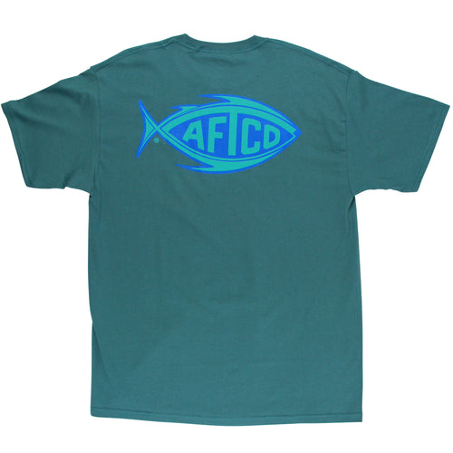 Aftco Neon Football Tee