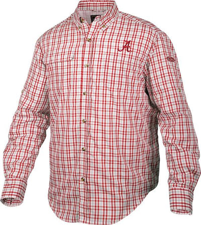 Drake Alabama Gingham Plaid Wingshooter's L/S Shirt