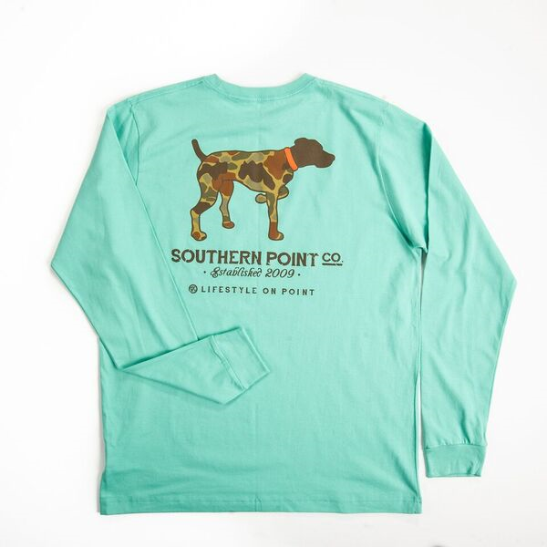 Southern Point Long Sleeve Camo Dog
