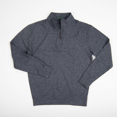 Southern Point Charcoal Herringbone Pullover