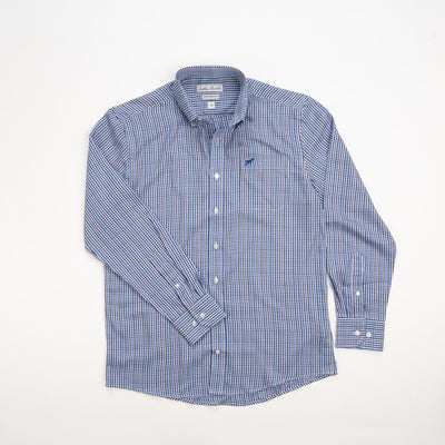 Southern Point Bamboo Check Blue