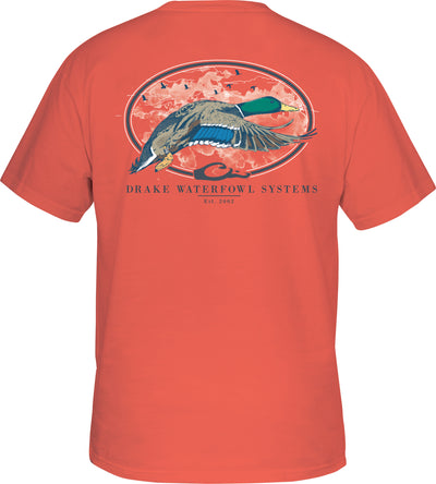 Oval Flying Drake T-Shirt Short Sleeve