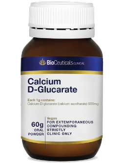 BioCeuticals Calcium D-Glucarate 60g Powder | Vitality and Wellness Centre