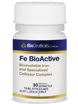 BioCeuticals Fe BioActive 30 Tablets | Vitality and Wellness Centre