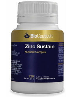 BioCeuticals Zinc Sustain 120 Tablets | Vitality ans Wellness Centre