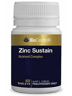 BioCeuticals Zinc Sustain 60 Tablets | Vitality And Wellness Centre