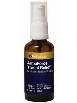 BioCeuticals ArmaForce Throat Relief 50ml Oral Spray