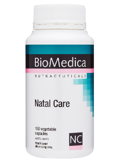 BioMedica Natal Care 150 Capsules | Vitality and Wellness Centre