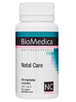 BioMedica Natal Care 60 Capsules | Vitality and Wellness Centre