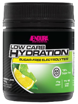 Endura Low Carb Hydration Lemon Lime Flavour 128g | Vitality and Wellness Centre