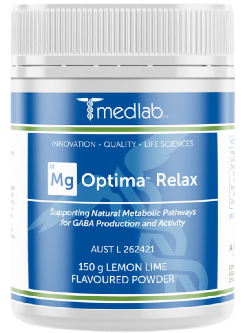 Medlab Mg Optima Relax Lemon Lime 150g Powder | Vitality and Wellness Centre