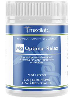 Medlab Mg Optima Relax Lemon Lime 300g Powder | Vitality and Wellness Centre