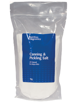 Nutrition Diagnostics Canning & Pickling Salt 1kg | Vitality and Wellness Centre