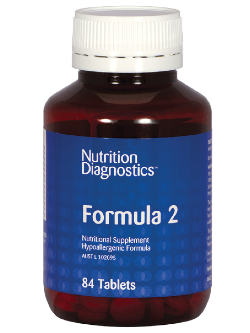 Nutrition Diagnostics Formula 2 84 Tablets | Vitality and Wellness Centre