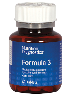 Nutrition Diagnostics Formula 3 60 Tablets | Vitality and Wellness Centre