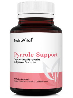 NatroVital Pyrrole Support 90 Capsules Front | Vitality And Wellness Centre